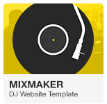 MixMaker - DJ Website Adobe Muse Template
