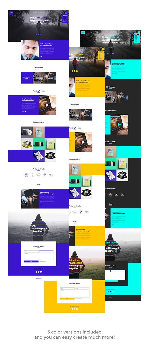 Anda - Creative Multipurpose Portfolio Muse Template