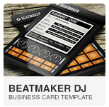 Beatmaker Digital DJ Business Card PSD template