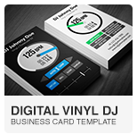Serato Digital Vinyl DJ Business Card PSD template