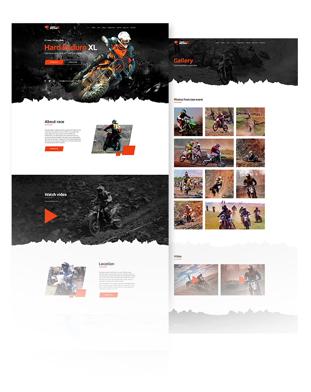 Enduro - Extreme Motorcycle Race Event Website Muse Template - 2