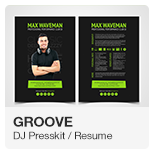 Groove - DJ Press Kit Resume PSD template