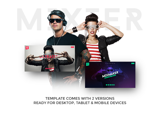 Mixter - Ultimate DJ / Producer / Musician / Band Website Muse Template