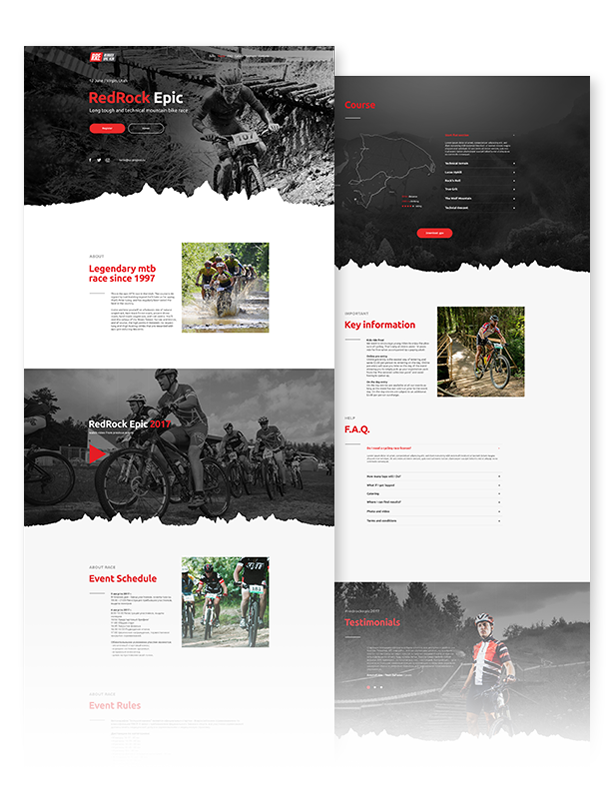 mtb race mountain bike racing marathon cycling event website muse template miscellaneous. Black Bedroom Furniture Sets. Home Design Ideas