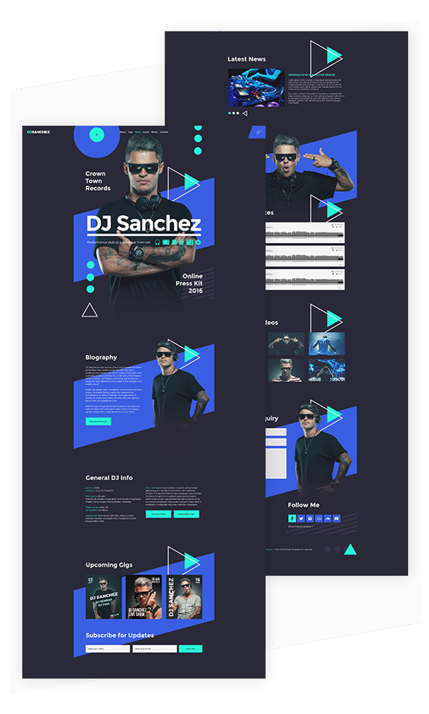ProDJ - Creative DJ / Producer Site Muse Template - 2