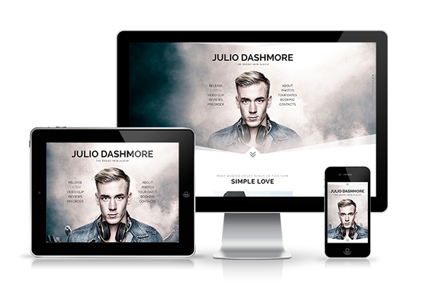 Promus – Music Album Release / DJ / Band / Musician Onepage Muse Template, Gobase64