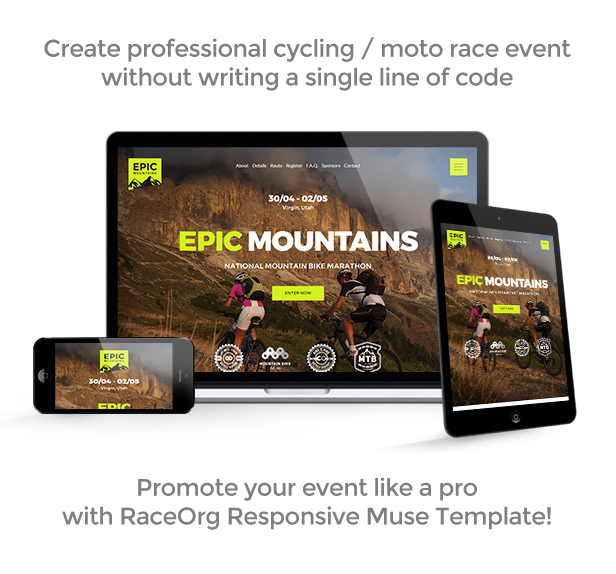 RaceOrg – Pro Cycling Mountain Bike Occasion / Race / Competitors Muse Template (Miscellaneous)