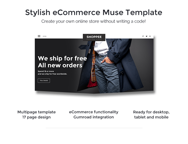 Shoppee - Stylish eCommerce Muse Template - 1
