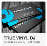 Vinyl DJ Business Card PSD template