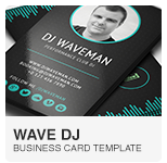 Wave DJ Business Card PSD template