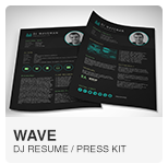 Wave DJ Resume Template