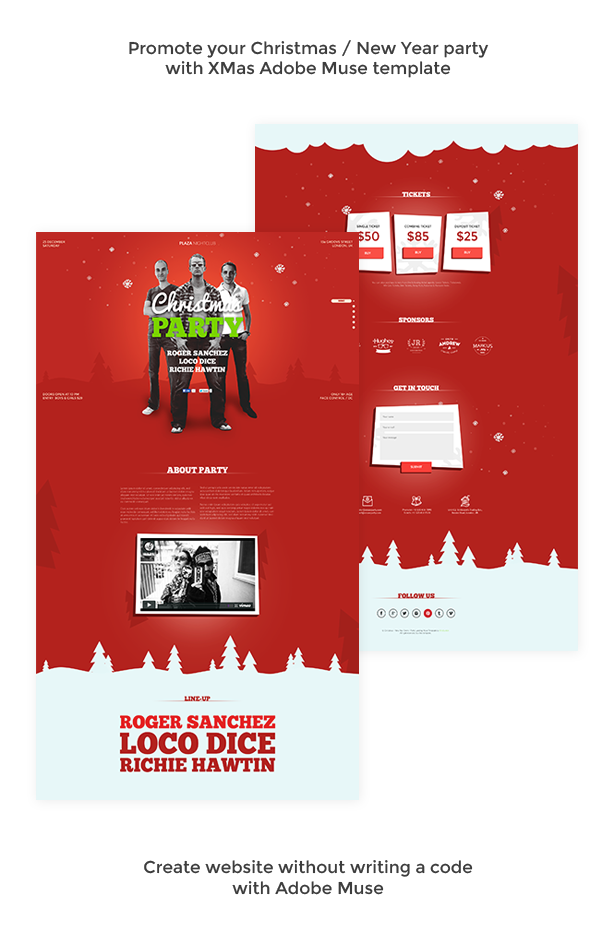 XMas - Christmas / New Year Party Muse Template